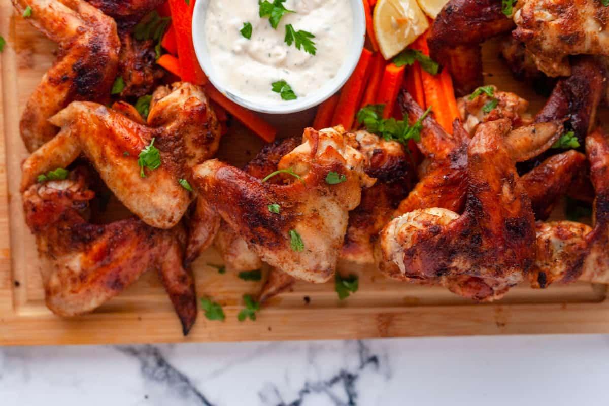a platter full of wings