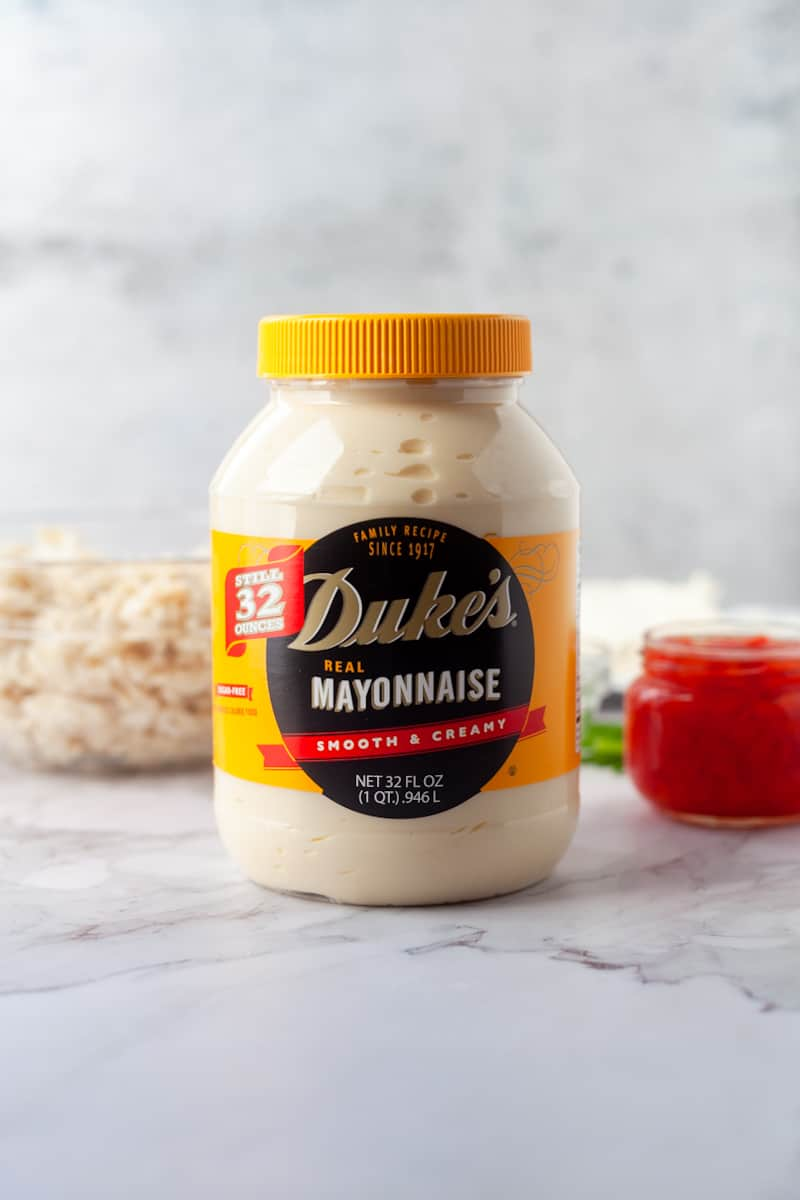 jar of mayo with ingredients