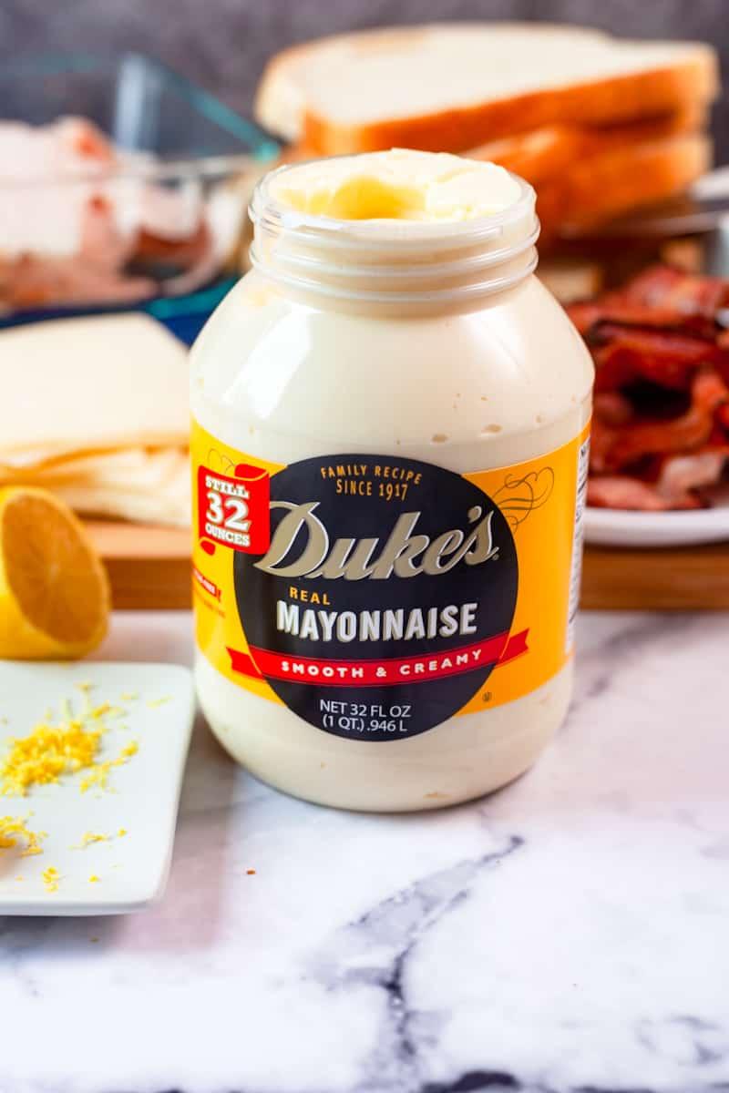 an opened jar of duke's mayo