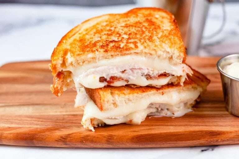 Turkey Grilled Cheese with Sage Mayo