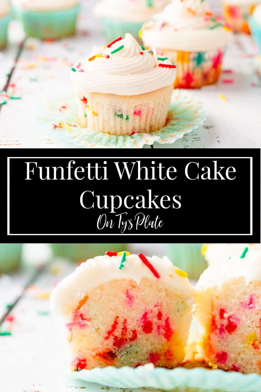 Funfetti White Cake Cupcakes