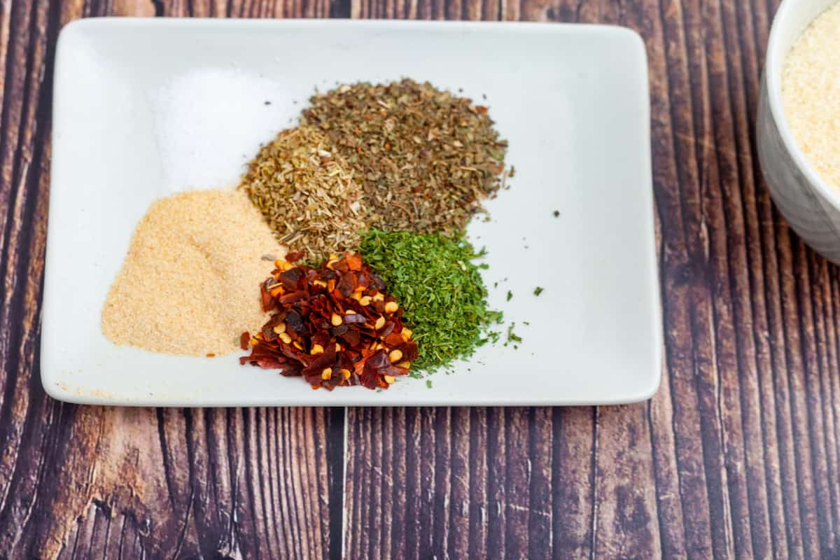 pantry spices on a plate