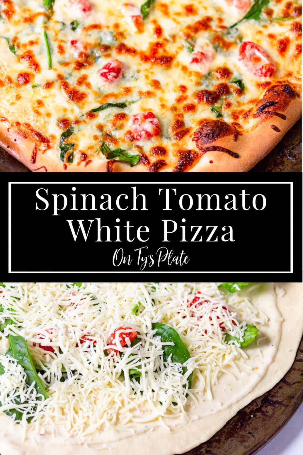 Spinach Tomato White Pizza