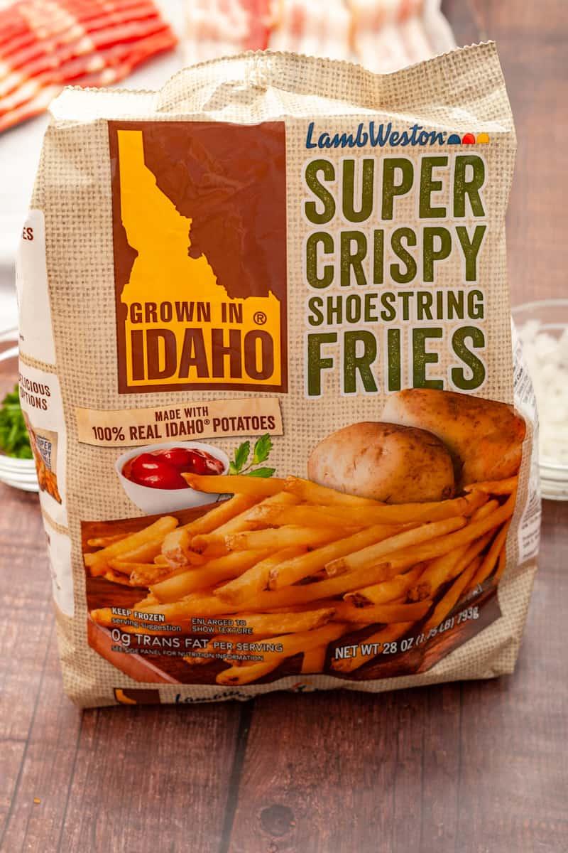 a package of grown in idaho crispy fries