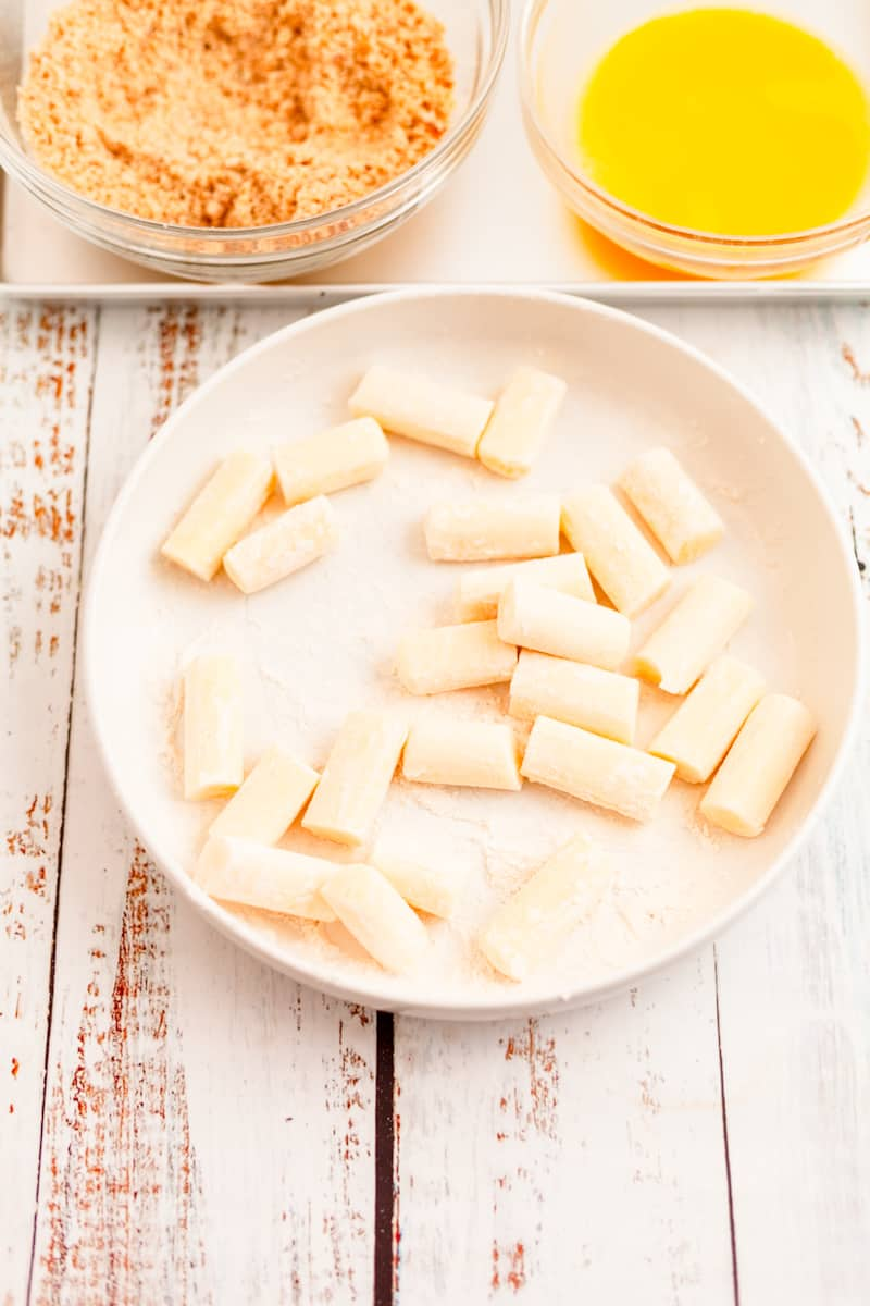 reduced-fat string cheese sticks cut into bite-sized pieces