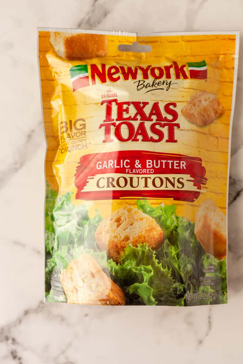 garlic butter croutons