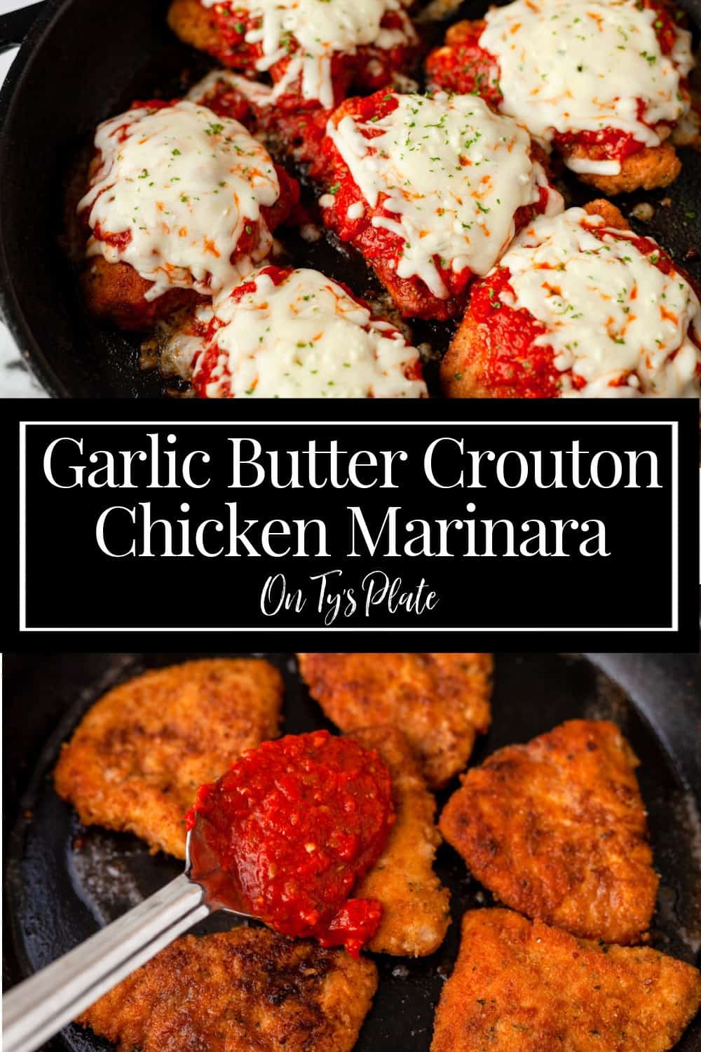 Garlic Butter Crouton Chicken Marinara