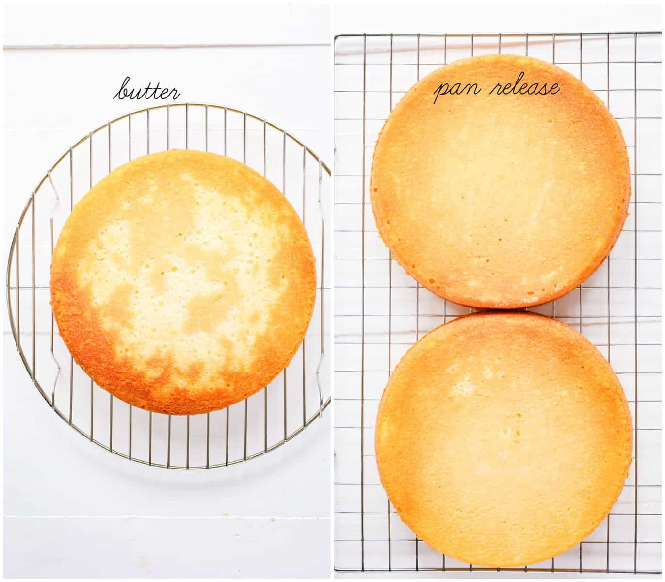 butter and flour vs pan release and flour